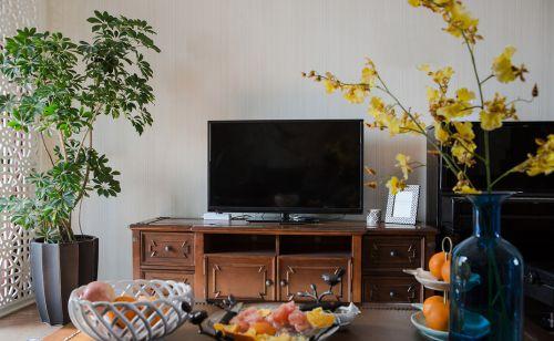 田园美式客厅电视背景墙装饰