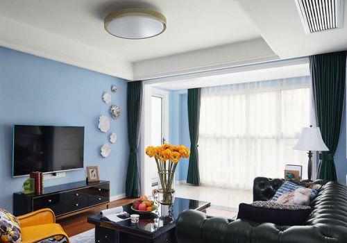 精致美式客厅窗帘设计