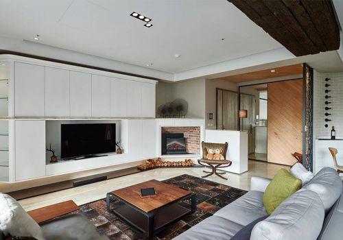 现代简美风格客厅装修设计