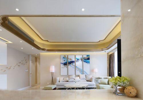 明亮美式客厅沙发背景墙设计