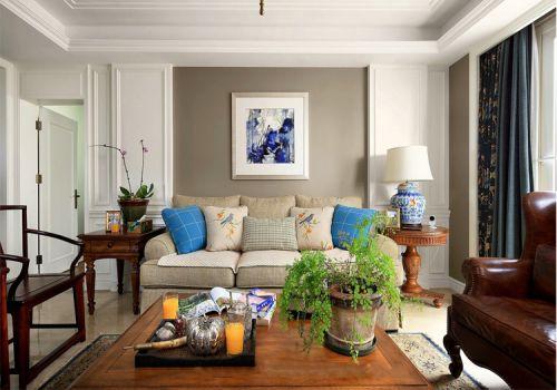 温馨美式风格客厅装修设计