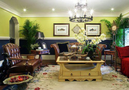 清新美式客厅美图欣赏