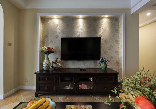 时尚美式客厅背景墙欣赏
