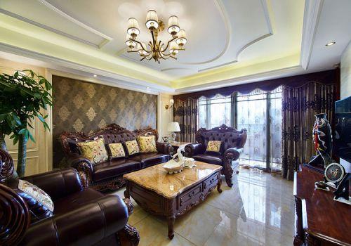 美式豪华客厅实景
