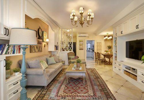 实用简约美式风格客厅装修图片