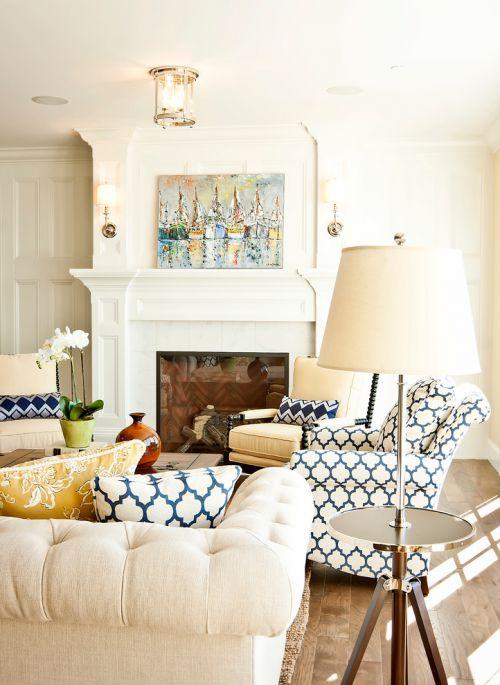 美式文艺清新风格白色客厅图片欣赏
