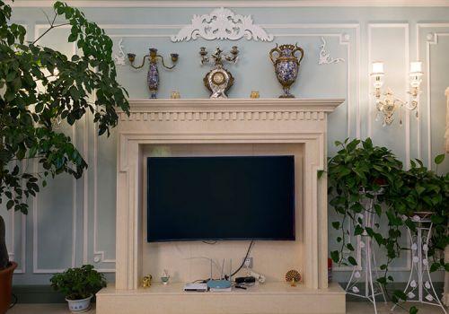 清新美式客厅背景墙欣赏