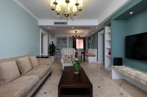 美式绿色清爽雅致客厅装潢设计