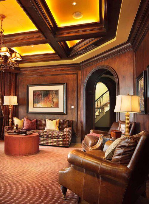美式经典风格客厅装修设计图片
