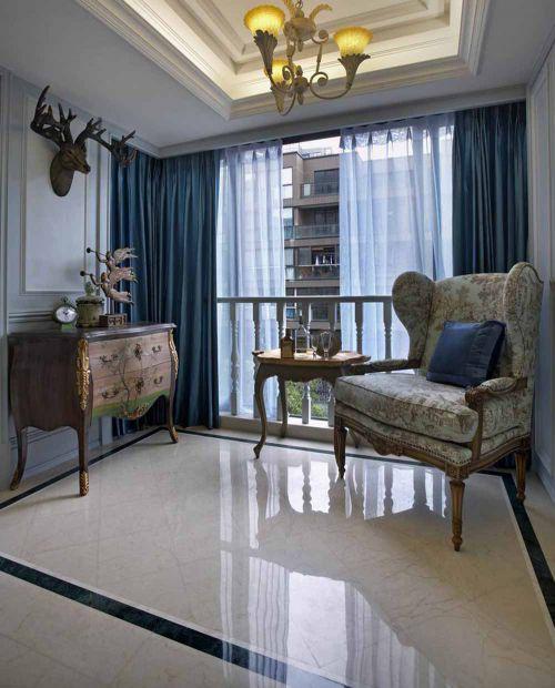 清新美式客厅局部设计图片