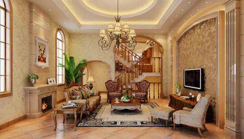 美式复古客厅装修效果展示