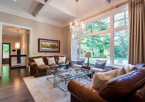 美式大气空旷客厅实景欣赏