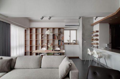 美式风格灰色客厅装修设计图