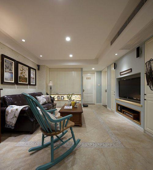 唯美浪漫美式米色客厅设计欣赏