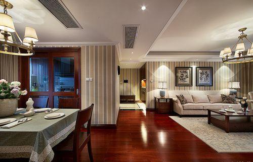 美式风格温馨米色客厅装饰设计图片