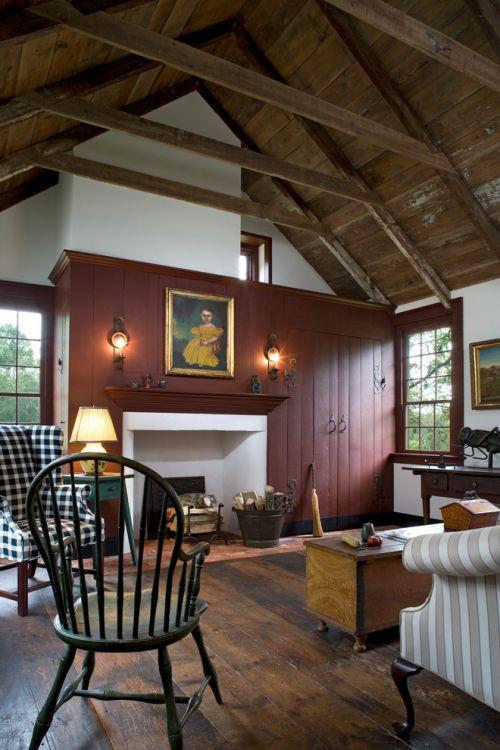 美式风格休闲客厅装饰图