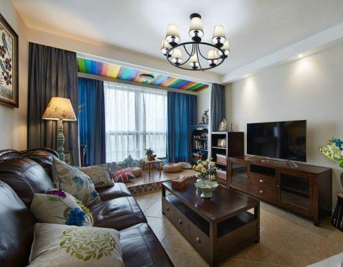 美式时尚创意客厅装潢设计案例