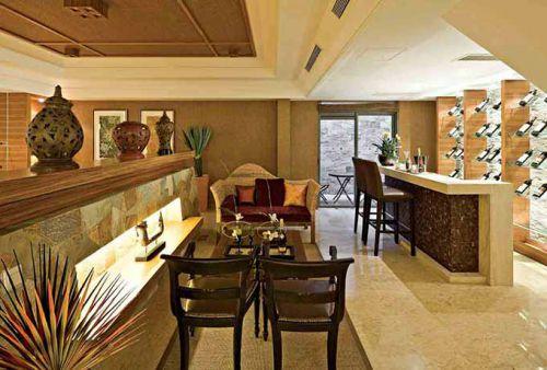 美式客厅一角装修效果图