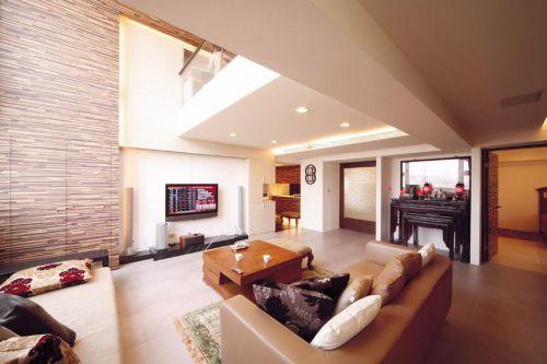 美式风格复式楼客厅装修图片