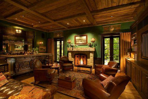 2016美式休闲客厅设计图片