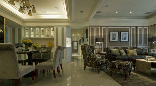 大户型美式风格客厅图片