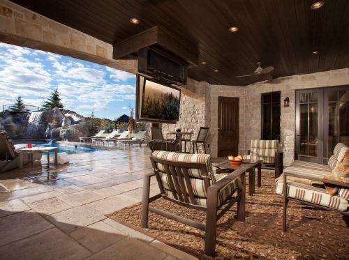 奢华大气美式风格客厅装修案例