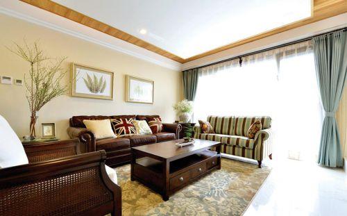 休闲美式风格客厅装修设计装潢