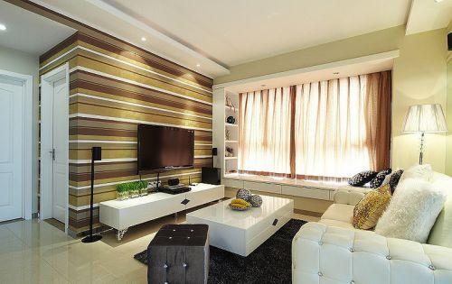 美式风格个性黄色客厅美图欣赏