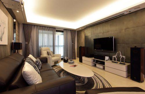 现代美式客厅装修效果图片