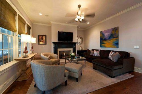 美式沉稳大气风格客厅装潢设计
