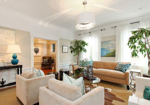 美式暖系客厅设计