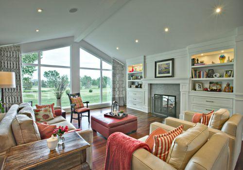 美式空旷彩色客厅美图