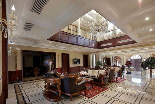 大气奢华美式客厅效果图赏析