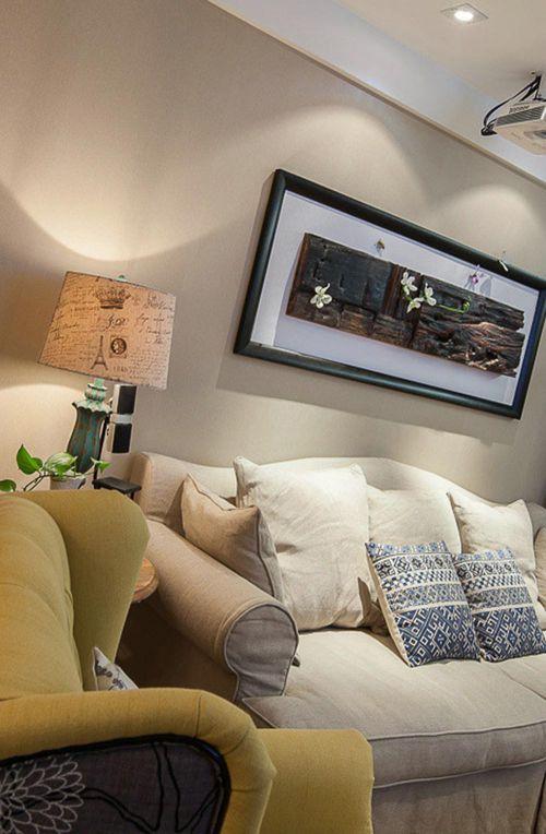 淡雅美式客厅装修效果展示