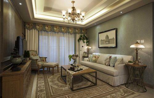 2016美式客厅装修效果图欣赏
