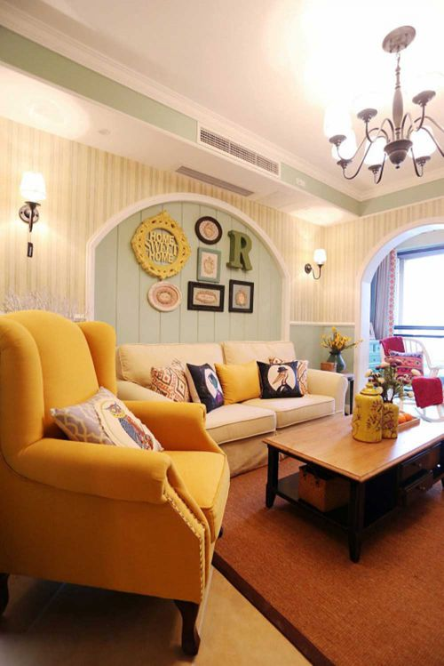 2015美式客厅装修效果图