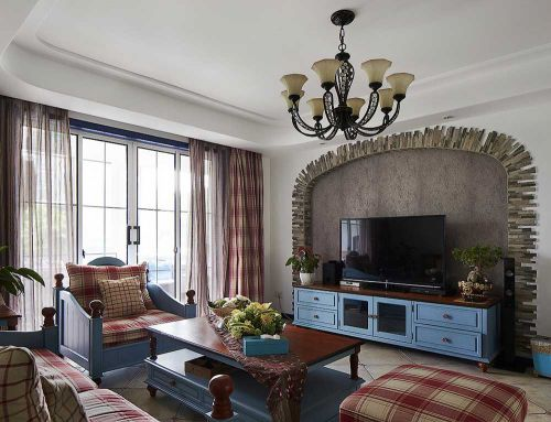 清新精致美式乡村风格客厅布置