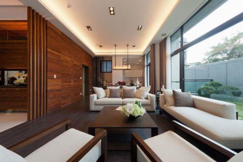 质朴美式风格客厅装饰设计图片