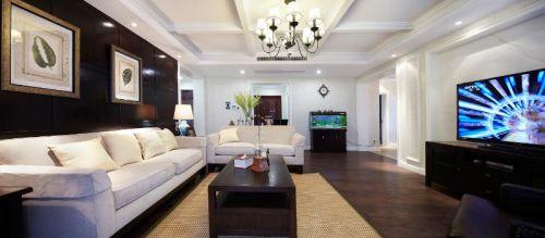 简洁美式风格客厅装饰图