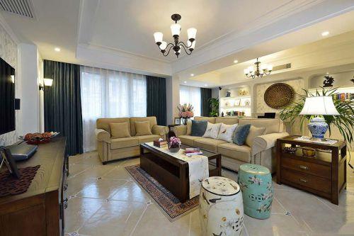 米色时尚温馨雅致客厅装潢设计
