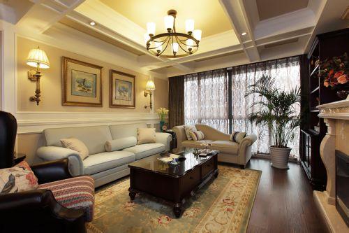 2016美式混搭客厅装修案例欣赏