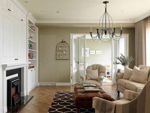 清新雅致美式客厅整体效果