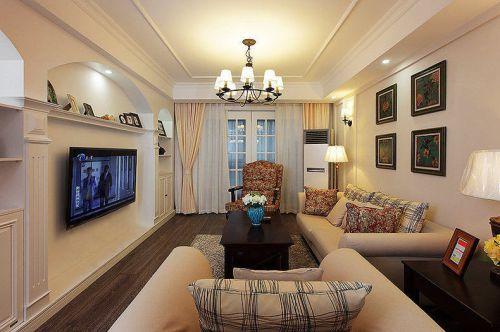 优雅气质美式米色客厅装饰案例