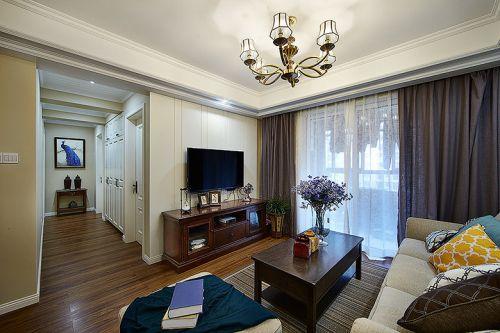 优雅时尚美式风格客厅装潢装修案例