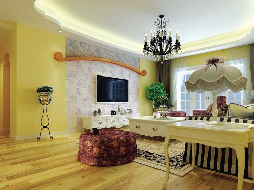 美式风格优雅情调客厅装修图片