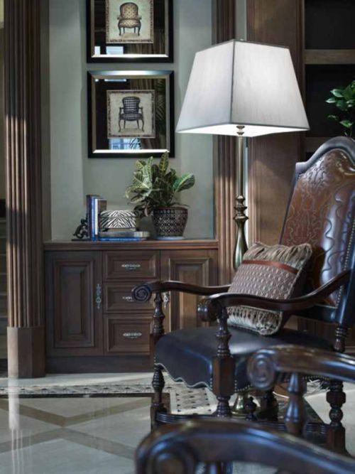 复古美式客厅局部设计