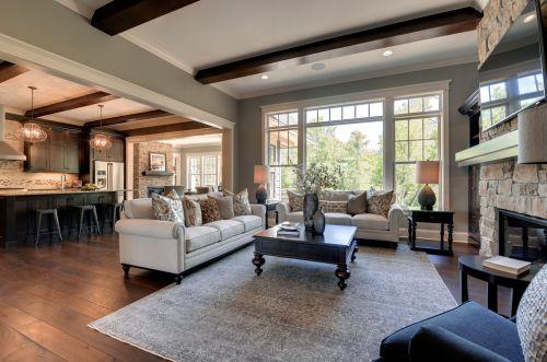 美式风格舒适米色客厅设计赏析