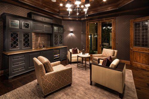 美式风格黑色大气客厅装修赏析
