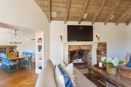 2016雅致美式田园浪漫美式客厅设计图