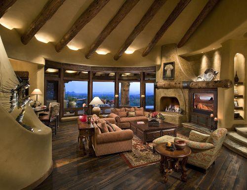 2016美式风格客厅装饰设计图片